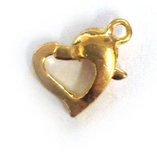 Heart Shaped Parrot Clasp - gold