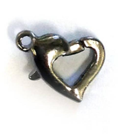 Heart Shaped Parrot Clasp - gunmetal