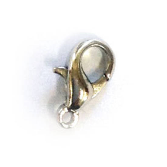 Parrot Clasp, small - antique silver
