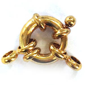 Spring Ring Clasp, large fancy - gold