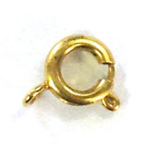 Spring Ring Clasp, medium - antique gold
