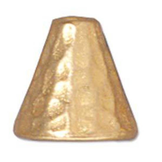 Hammered Cone, 8mm - Gold