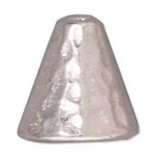 Hammered Cone, 8mm - Silver