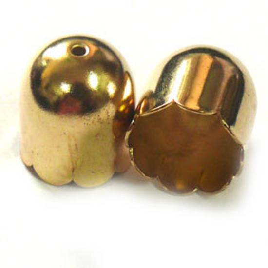 Scalloped large cone, 14x16mm - Gold