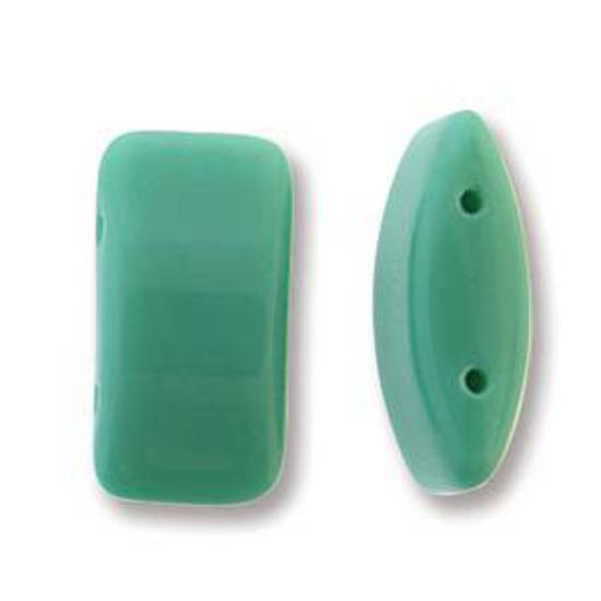 Glass Carrier Bead: Turquoise Green
