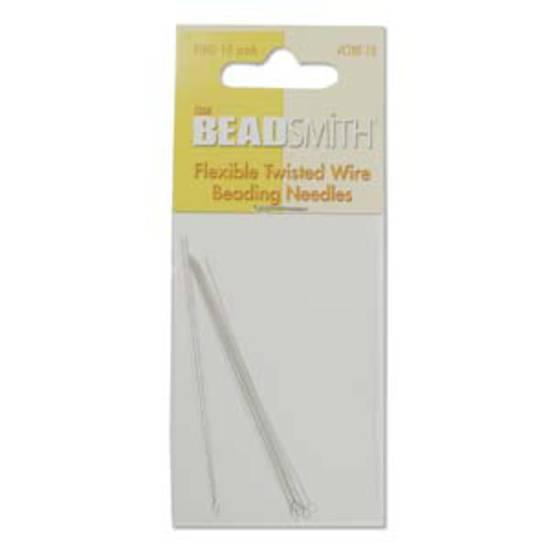 NEW! BeadSmithTwisted Needle, 6.4cm long: 10 pack - fine