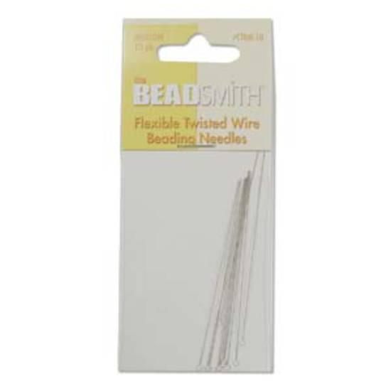 NEW! BeadSmith Twisted Needle, 6.4cm long: 10 pack - medium