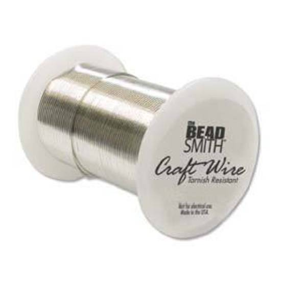 Beadsmith  Craft Wire, Silver Colour: 26 gauge