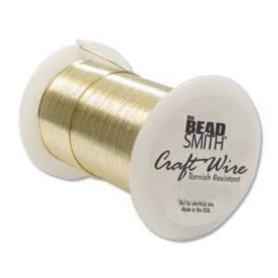 Beadsmith Craft Wire, Gold Colour: 26 gauge