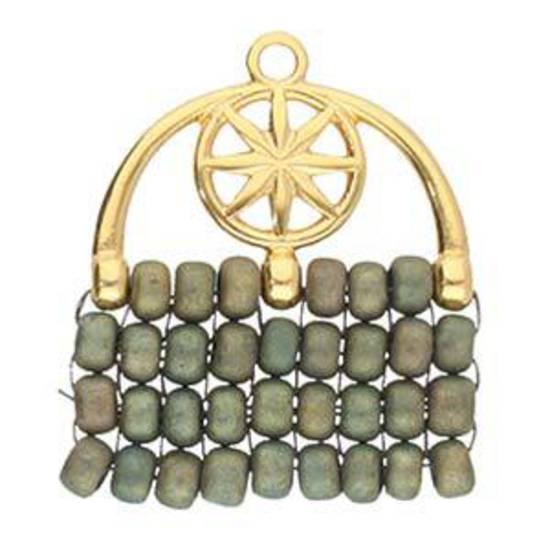 Cymbal Finding: Amatos III - Size 8/0 bead ending - Gold