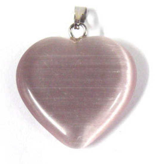 22mm Fibre Optic Heart: Purple