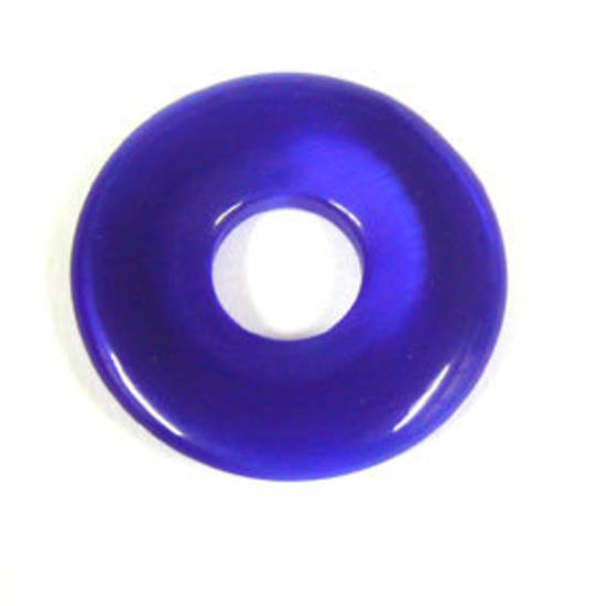30mm Fibre Optic Donut: Royal Blue
