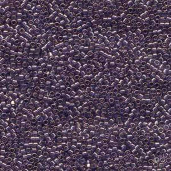 Delica, colour 117 - dark Lavender Blue Gold Luster