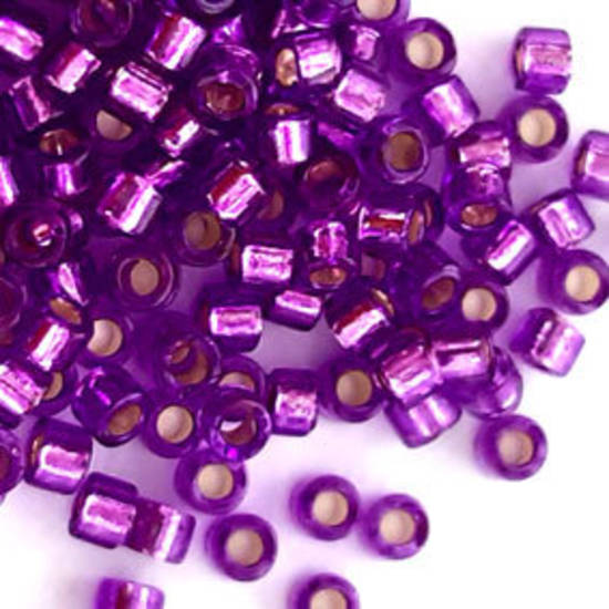 NEW! Delica, colour 1345 - Dyed Silverlined Bright Violet