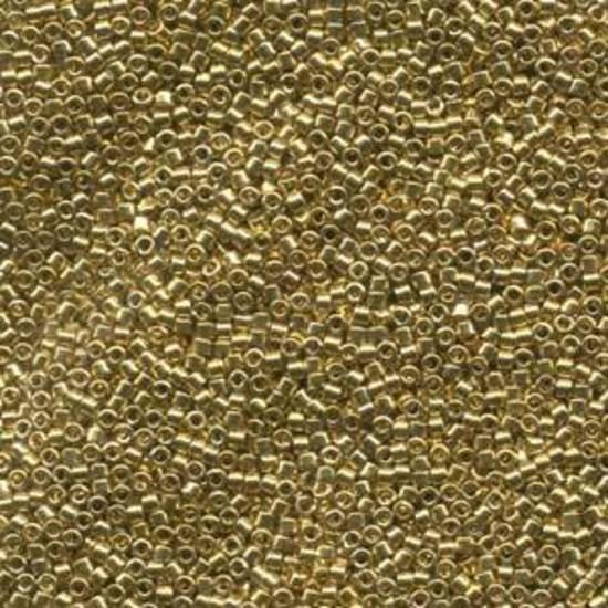 NEW! 11/0 Miyuki Delica, colour 034 - 24KT Gold Plated