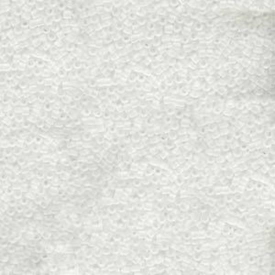 11/0 Miyuki Delica, colour 741 - Matte Transparent Crystal