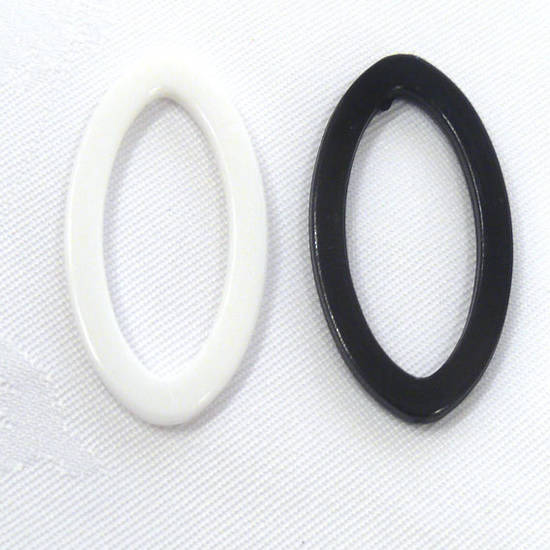 Acrylic Donut Style Piece, pointed oval shape
