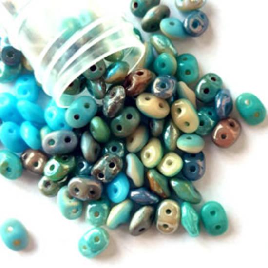 NEW! Superduo: MIX - turquoises