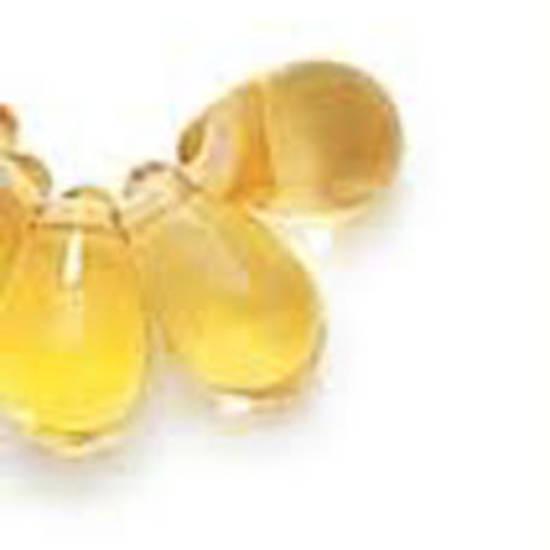 Tear Drop, 3mm x 6mm: Amber