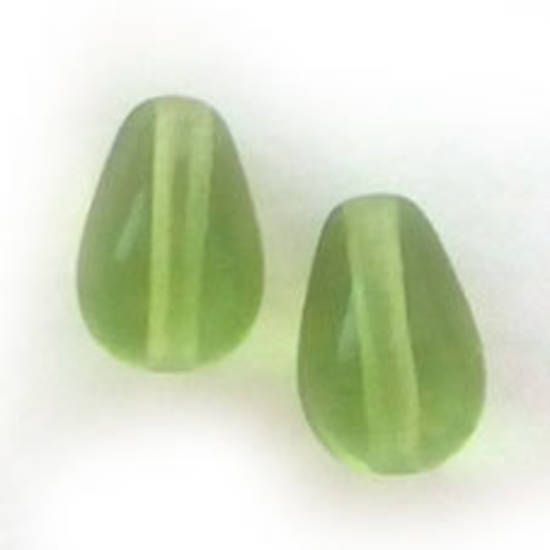 Pear Drop, 6mm x 9mm: Peridot