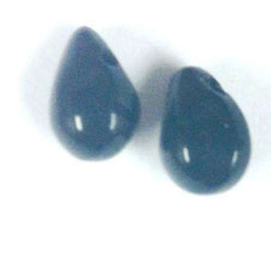 Flattened Tear Drop, 6mm x 10mm: Jet