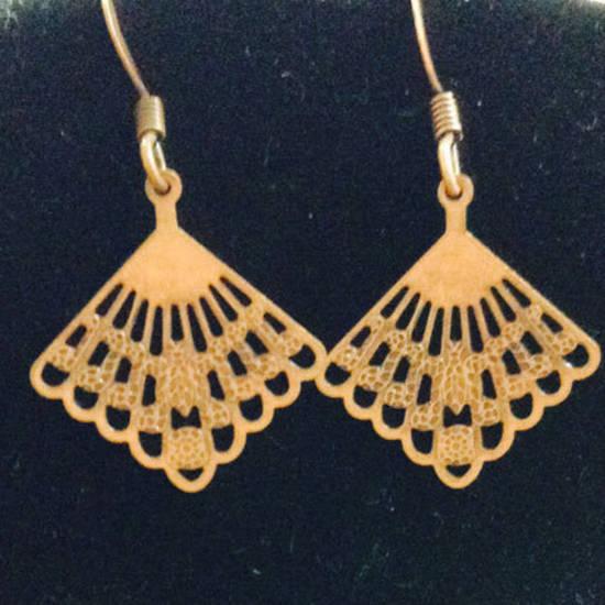 EARRINGS: Fine Copper Fans