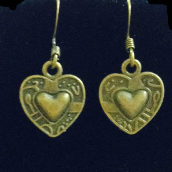 EARRINGS: Brass Hearts