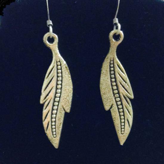 EARRINGS: Silver Feathers