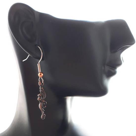 EARRINGS: Copper Curlicue