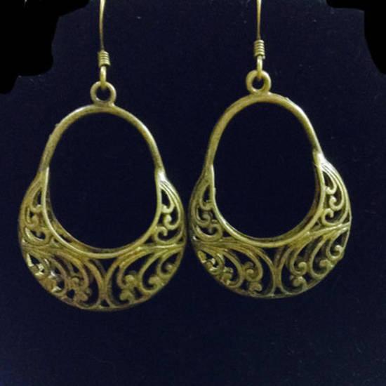 EARRINGS: Brass Baskets