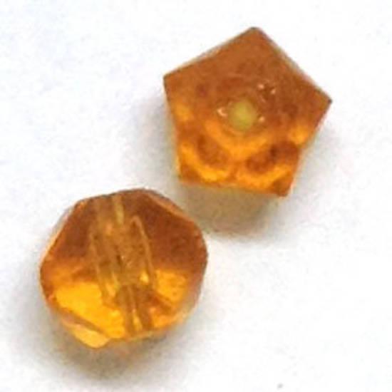 8mm rough cut facet - Amber