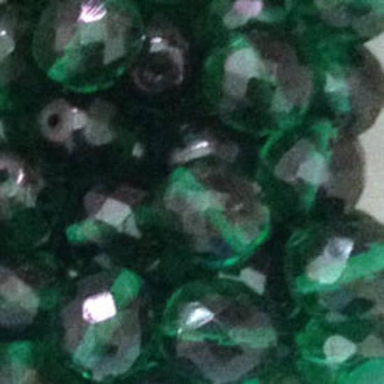 Czech Firepolished Facet: 10mm - Emerald