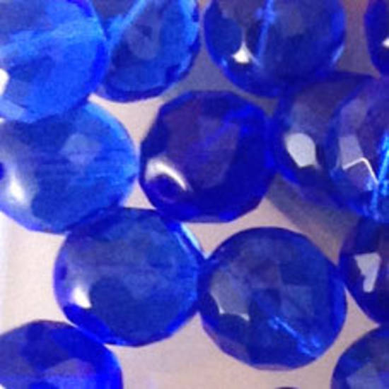 Czech Firepolished Facet: 12mm - Sapphire