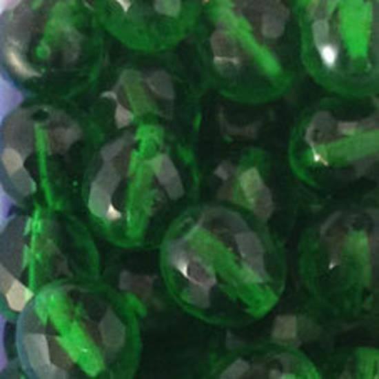 Czech Firepolished Facet: 12mm - Emerald