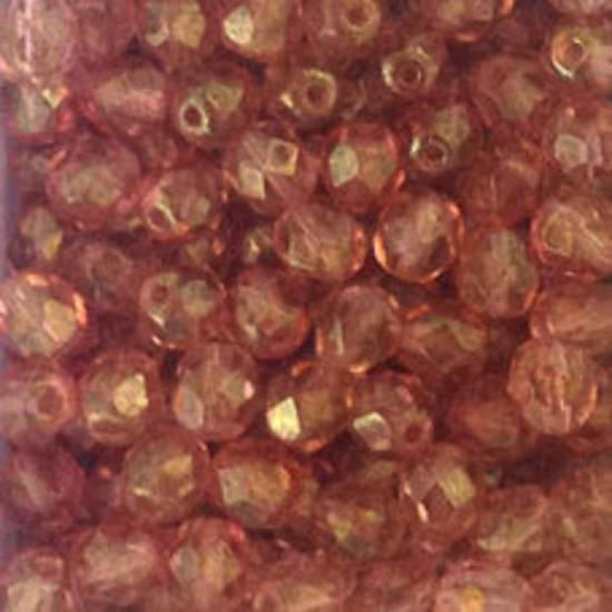 Czech Firepolished Facet: 6mm - Ligth Amethyst brown lustre
