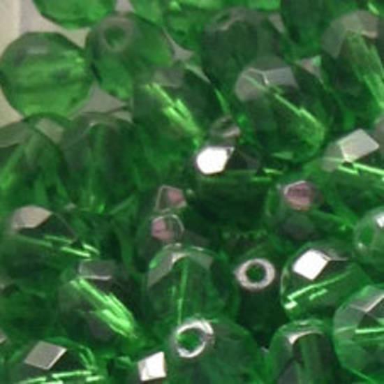 Czech Firepolished Facet: 8mm - Mid Emerald