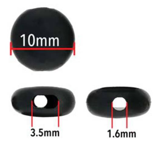 Fablastic Cord Lock Bead (mask adjuster): 10mm black