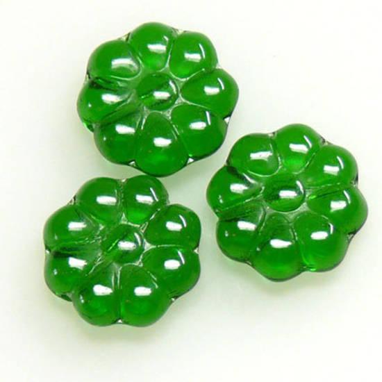 Flat Daisy, 11mm - Emerald