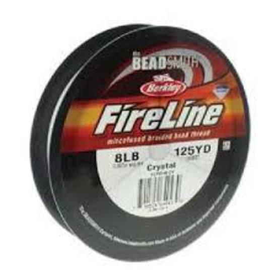 8lb Fireline, 125 yard spool: CRYSTAL CLEAR