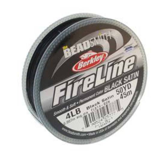 4lb Fireline, 50 yard spool: BLACK SATIN