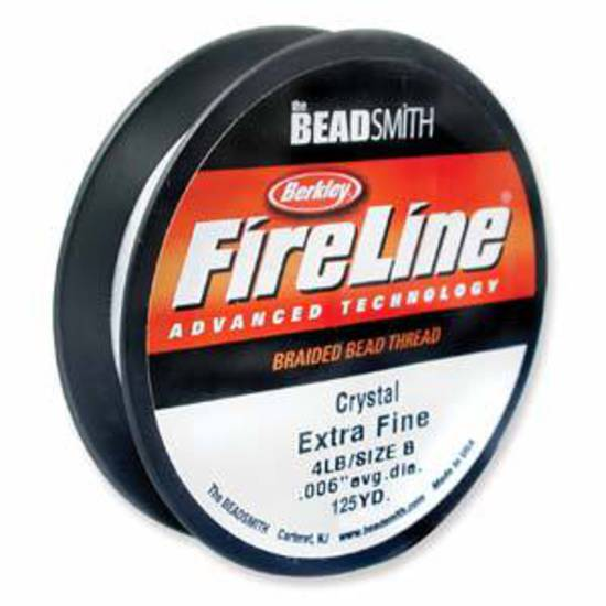 4lb Fireline, 125 yard spool: CRYSTAL CLEAR