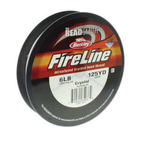 6lb Fireline, 125 yard spool: CRYSTAL CLEAR