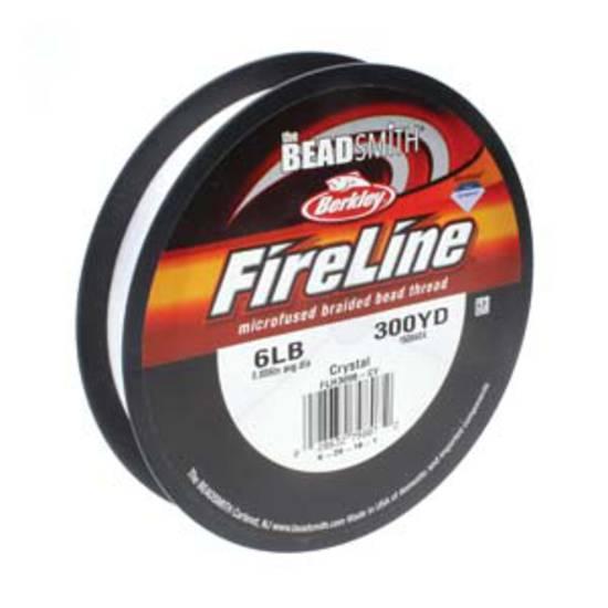 6lb Fireline, 300 yard spool: CRYSTAL CLEAR