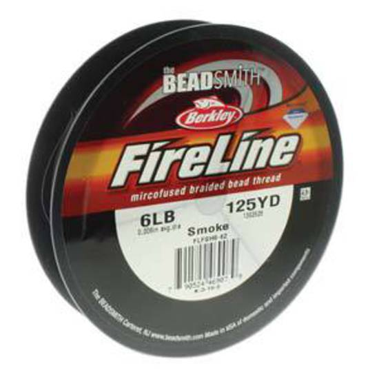6lb Fireline, 125 yard spool: SMOKE GREY