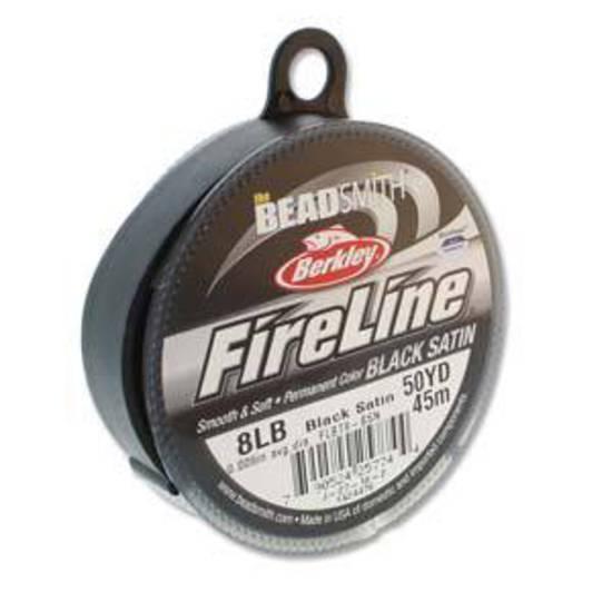 8lb Fireline, 50 yard spool: BLACK SATIN