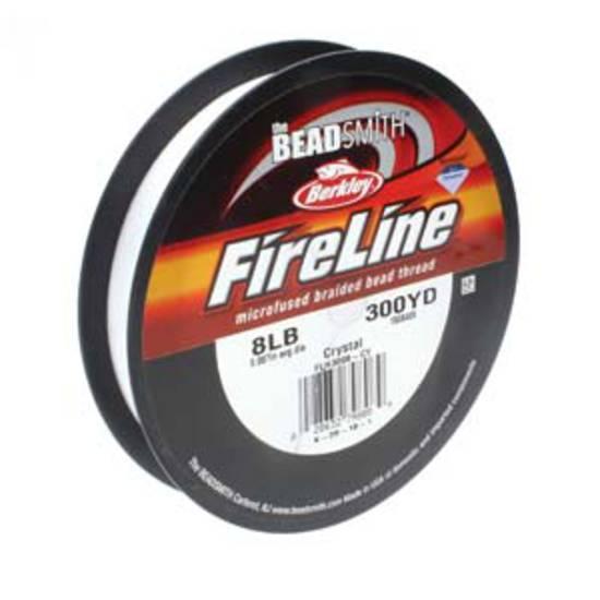 8lb Fireline, 300 yard spool: CRYSTAL CLEAR