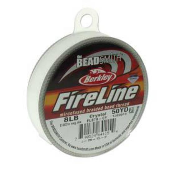 8lb Fireline, 50 yard spool: CRYSTAL CLEAR