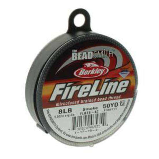 8lb Fireline, 50 yard spool: SMOKE GREY