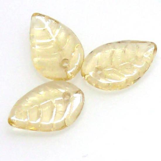 Flat Leaf, 8mm x 12mm - Light Amber