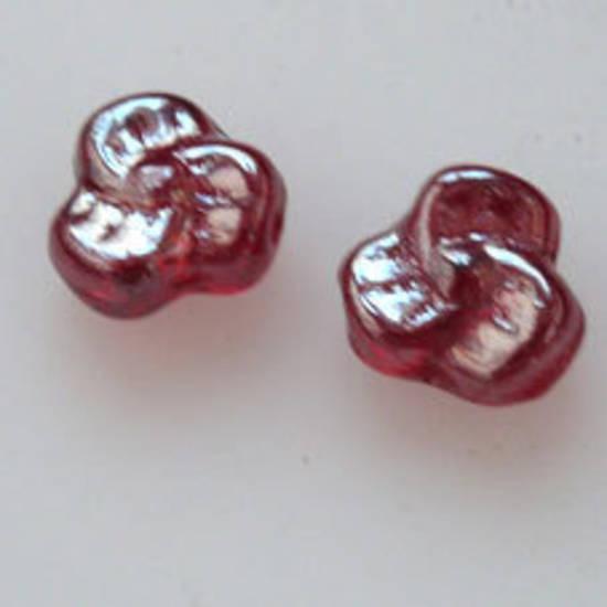 Tri Flower,9mm - Garnet, shimmer